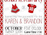 Football themed Gender Reveal Party Invitations Customized Printable Baby Gender Reveal Invitation