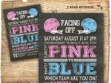 Football themed Gender Reveal Party Invitations Football Gender Reveal Invitation Football Baby Shower Invite