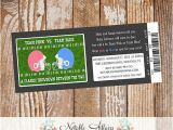 Football themed Gender Reveal Party Invitations Football themed Ticket Invitation Perfect for Gender