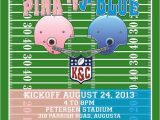 Football themed Gender Reveal Party Invitations Gender Reveal Football theme Invitation by Shopkebcreative