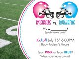 Football themed Gender Reveal Party Invitations Gender Reveal Party so Crafty