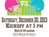 Football themed Gender Reveal Party Invitations Printable Football Gender Reveal Party by Audraschicdesigns