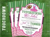 Football themed Gender Reveal Party Invitations touchdowns or Tutus Gender Reveal Invitation Football or