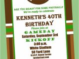 Football themed Party Invitation Wording Football Birthday Party Invitation Printable or by