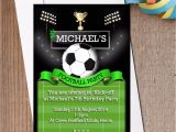 Football Watch Party Invitation Wording 10 Personalised Boys Football Pitch soccer Birthday Party