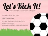 Football Watch Party Invitation Wording Pink soccer Ball Sports Party Invitation soccer Invitations