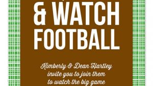 Football Watch Party Invitation Wording Watch Football Party Invitations by Invitation
