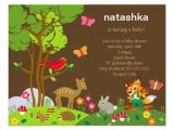 Forest Friends Baby Shower Invitations forest Friends Baby Shower Invitation