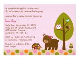 Forest Friends Baby Shower Invitations forest Friends Girls Baby Shower Invitation