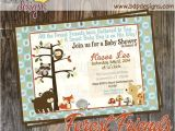Forest Friends Baby Shower Invitations forest Friends Woodland Baby Shower Invitation