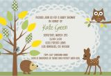 Forest Friends Baby Shower Invitations Woodland Baby Shower Invitation forest Animals Baby Boy