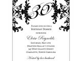 Formal 30th Birthday Invitation Wording Black and White Decorative Framed 30th Birthday