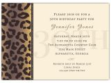Formal 30th Birthday Invitation Wording Cheetah 30th Birthday Invitations Paperstyle