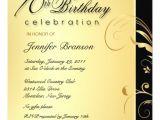 Formal 70th Birthday Invitation Wording 70th Birthday Party Elegant Gold Floral Invites 5 25