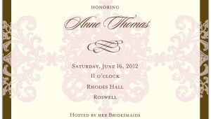 Formal Bridal Shower Invitation Wording formal Pattern Pink Bridal Shower Invitations Paperstyle