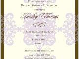 Formal Bridal Shower Invitations formal Pattern Lavender Bridal Shower Invitations