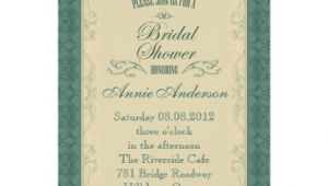 Formal Bridal Shower Invitations formal Teal Champagne Bridal Shower Invitation