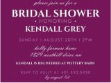 Formal Bridal Shower Invitations Purple and Black formal Bridal Shower Invitation