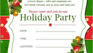 Formal Christmas Party Invitation Wording Christmas Invitation Template and Wording Ideas