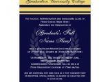 Formal College Graduation Invitations formal College Graduation Announcements Blue 5 Quot X 7