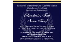 Formal College Graduation Invitations formal College Graduation Announcements Blue 5 Quot X 7