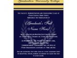 Formal Graduation Invitation Wording formal College Graduation Announcements Blue 5 Quot X 7