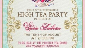 Formal Tea Party Invitation formal Tea Party Invitation Cobypic Com