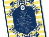 Formal Tea Party Invitation formal Tea Printable Party Invitation Blue and Yellow