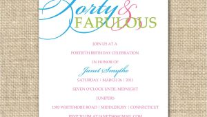 Forty Birthday Party Invitation Wording 10 Birthday Invite Wording Decision – Free Wording