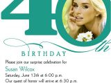 Forty Birthday Party Invitation Wording 40th Birthday Invitation Wording – Bagvania Free Printable