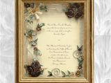 Framing Wedding Invitation Framed Wedding Invitation Framed Wedding Gift Gold Wedding