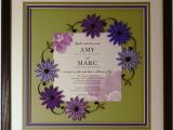 Framing Wedding Invitation Hand Crafted Wedding Invitation Quilled Keepsake Framed