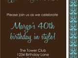 Free 40th Birthday Invitations Templates 9 Best Of Men 40th Birthday Invitations Printable
