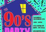 Free 90s Party Invitation Template 90 39 S theme House Party Digital Birthday Invitation