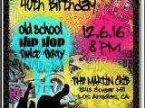 Free 90s Party Invitation Template 90s Hip Hop Graffiti Birthday Invitations [di 464