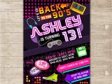 Free 90s Party Invitation Template Back to the 90 S Invitation Nineties Party Invite