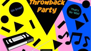 Free 90s Party Invitation Template How to Throw the Perfect 39 90s Throwback Party Kindly