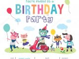 Free Animated Birthday Party Invitations 42 Kids Birthday Invitation Templates Free Sample