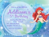 Free Ariel Birthday Invitations Printable 9 Best Images Of Free Mermaid Printable Invitation