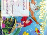 Free Ariel Birthday Invitations Printable Ariel the Little Mermaid Free Printable Party Invitations