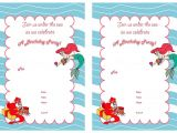 Free Ariel Birthday Invitations Printable Little Mermaid Birthday Invitations Birthday Printable