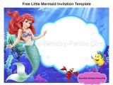 Free Ariel Birthday Invitations Printable Little Mermaid Font