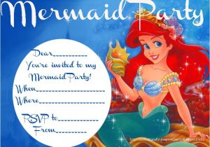 Free Ariel Birthday Invitations Printable Little Mermaid Invitation Free Printable orderecigsjuice