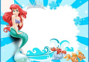 Free Ariel Birthday Invitations Printable the Little Mermaid Free Printable Invitations Cards or