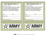 Free Army Birthday Party Invitation Template Army Birthday Invitations Free Printable Invitation Librarry