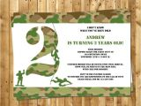 Free Army Birthday Party Invitation Template Free Army Birthday Party Invitation Template