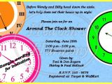 Free Around the Clock Bridal Shower Invitation Templates Around the Clock Bridal Shower Invitations – Gangcraft