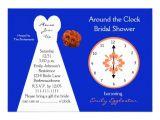Free Around the Clock Bridal Shower Invitation Templates Bridal Shower Invitations Around the Clock Bridal Shower