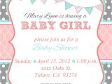 Free Baby Girl Shower Invitations Loca Date Time Line About Diaper Raffle & Spa Prize