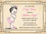 Free Baby Girl Shower Invitations Princess Baby Shower Invitation Girl Vintage Princess Baby